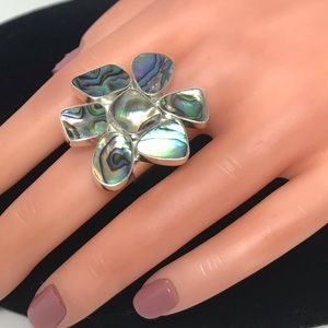 Jewelry - Paua  Flower Sterling Silver 925 Ring